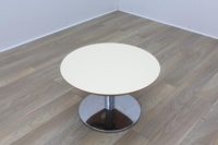 Orangebox Cream Round Coffee Table - Thumb 2
