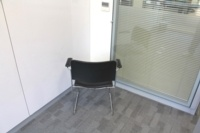 Black Leather Meeting Chairs With Chrome Legs - Thumb 4