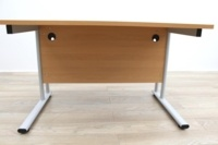 Beech Cantilever Desks With Courtesy Panel - Thumb 5