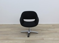 Black Fabric Kusch Co Volpe Meeting Chairs - Thumb 2