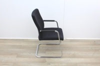 Black Meeting Chairs With Chrome Legs  - Thumb 4