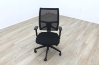 Task Black Mesh Black Fabric Operator Chair - Thumb 2