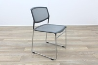 Daylight Grey Mesh Canteen Chair Made in US - Thumb 5