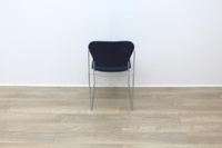 Blue stacking meeting chairs with chrome finish - Thumb 4
