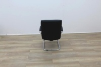 Black Faux Leather Meeting Chairs - Thumb 5