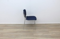 Blue stacking meeting chairs with chrome finish - Thumb 3