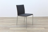 Brunner Oak Back Grey Fabric Back Meeting Chair - Thumb 5