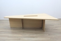 Sven Christiansen 3000mm Rare Triangular Solid Maple / Walnut Meeting Table - Thumb 4