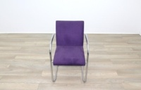 Brunner Purple Velour Meeting Chair - Thumb 4
