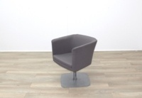 Grey Fabric Office Reception Tub Chairs - Thumb 4
