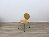Wooden Canteen Chairs With Chrome Legs - Thumb 2