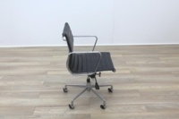 Eames Style Black Ribbed Office Task Chair - Thumb 6