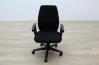 Black Fabric Multifunction Office Task Chairs - Thumb 3