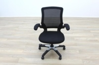Black Fabric / Mesh Back Multifunction Office Task Chairs - Thumb 6