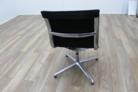 ICF UNA Executive Black Fabric Chrome Office Meeting Chairs - Thumb 5