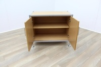 Golden Oak Cupboard with Aluminium Frame - Thumb 3
