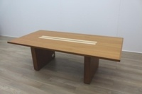 Sven Christiansen 2400mm Solid Walnut / Maple Executive Office Meeting Table - Thumb 4