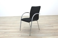 Black Fabric / Chrome Office Meeting Chairs - Thumb 5