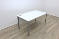 White 1400mm Straight Office Desks - Thumb 2
