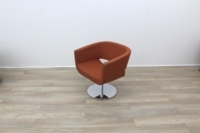 Orange Fabric Tub Chairs - Thumb 4
