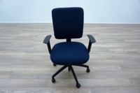 Blue Fabric Multifunction Office Task Chairs - Thumb 3