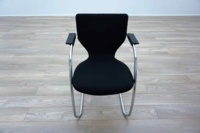 Orangebox X10 Black Fabric Chrome Frame Office Meeting Chairs - Thumb 3
