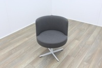 Brunner Grey Fabric Reception Tub Chair - Thumb 2