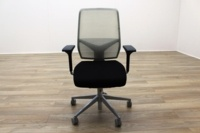Giroflex G68 Black Fabric / White Mesh Office Task Chairs - Thumb 2