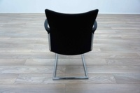 Herman Miller Cantilever Black Fleck Fabric Office Meeting Chairs - Thumb 5