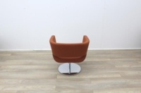 Orange Fabric Tub Chairs - Thumb 6