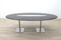Wenge Oval Meeting Table Glass Inlay - Thumb 4