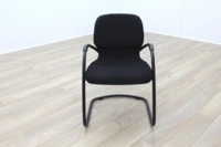 Steelcase Strafor Black Fabric Office Meeting Chairs - Thumb 3