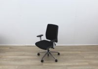 Senator Operator Chairs With White Back And Fabric Seat - Thumb 2