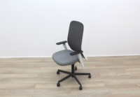 Bene Operator Chair With Grey Seat and Black Mesh Back - Thumb 2