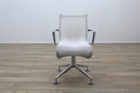 Alias Chrome Base White Mesh Office Meeting Chairs - Thumb 6