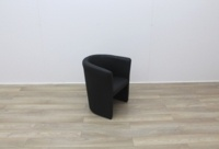 Black Faux Leather Reception Chairs - Thumb 6