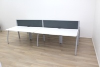 Senator Bench Desk With Grey Screens Available For 4 Persons And 6 Persons  - Thumb 4