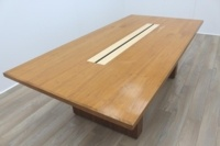 Sven Christiansen 2400mm Solid Walnut / Maple Executive Office Meeting Table - Thumb 2