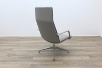 Brunner Light Grey Leather Executive Chair - Thumb 7