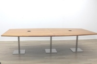 Solid Cherry Barrel Shape Office Meeting Table - Thumb 4