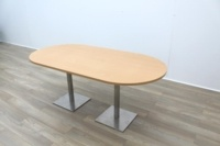 Beech Racetrack Office Meeting Table - Thumb 5