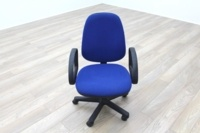 Blue Fabric Adjustable Operator Chairs - Thumb 2