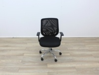 Black Operator Chairs With Mesh Back And Fabric Seat - Thumb 2