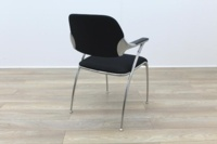 Brunner Black Fabric Meeting Chair - Thumb 7