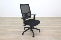 Task Black Mesh Black Fabric Operator Chair - Thumb 5