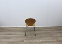 Wooden Canteen Chairs With Chrome Legs - Thumb 5