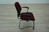 Giroflex G64 Cantilever Burghundy Office Meeting Chair - Thumb 4