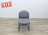 Grey Meeting Chairs With Black Frame - Thumb 2