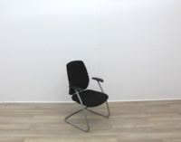 Black Fabric Meeting Chairs - Thumb 5