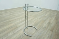 Eileen Gray Style Adjustable Circular Glass Coffee Table - Thumb 2